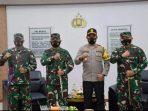 Pangdam I/BB beserta rombongan saat foto bersama dengan Kapolres Sibolga AKBP Triyadi, SH, SIK